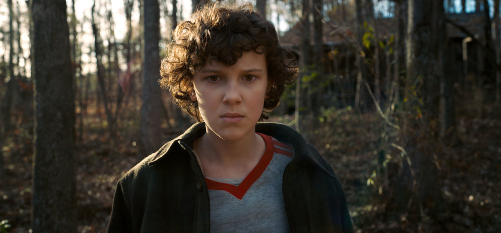 Millie Bobby Brown as Eleven.