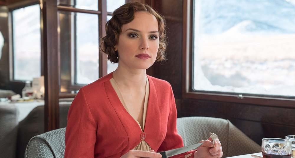 Daisy Ridley as Mary Debenham, a governess on the voyage.