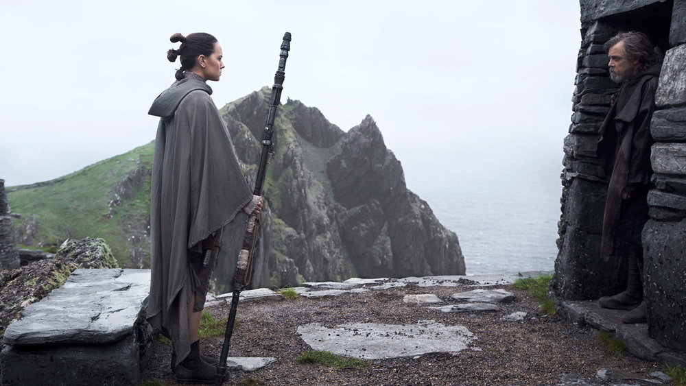 Daisy Ridley and Mark Hamill star in  Star Wars: The Last Jedi , directed by Rian Johnson.
