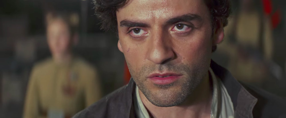 Poe Dameron (Oscar Issac) must learn that there are other tactics than flying into battle.