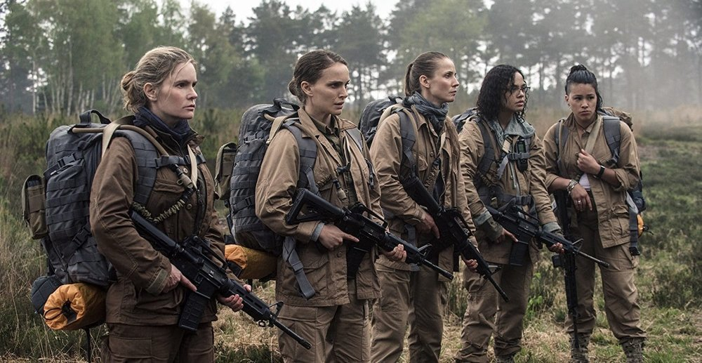 A team of five female scientists enter the Shimmer, played by Jennifer Jason Leigh, Natalie Portman, Tuva Novotny, Tessa Thompson, and Gina Rodriguez.