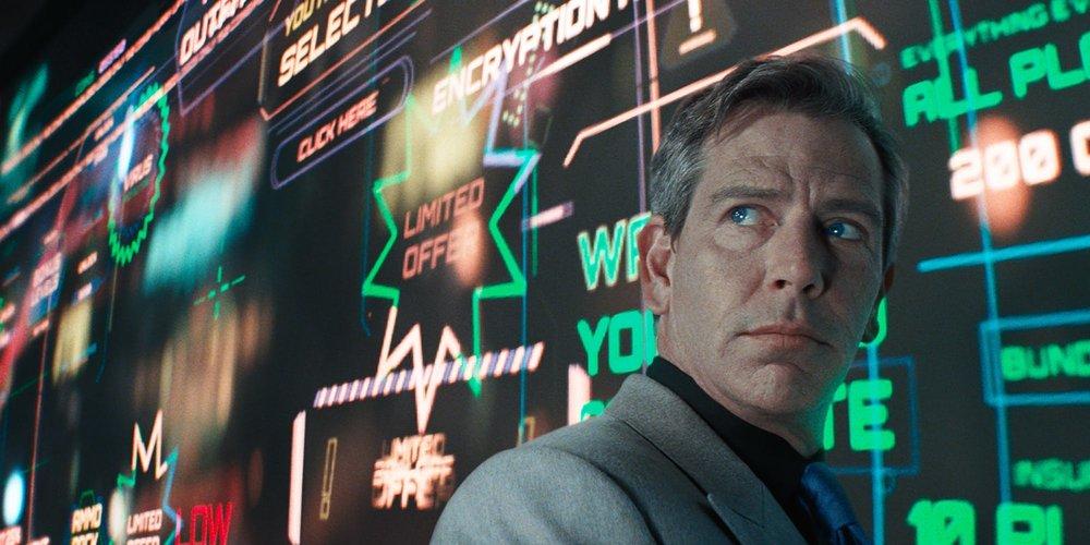 Ben Mendelsohn as Nolan Sorrento, the greedy CEO of Innovative Online Industries.
