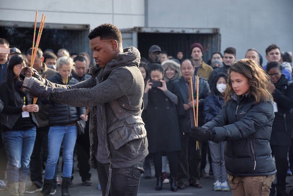 John Boyega as Jake Pentecost and Cailee Spaeny as Amara Namani.