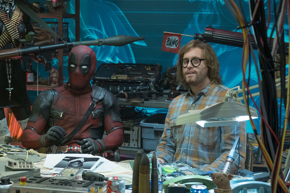 Ryan Reynolds and T.J. Miller in  Deadpool 2 , directed by David Leitch.