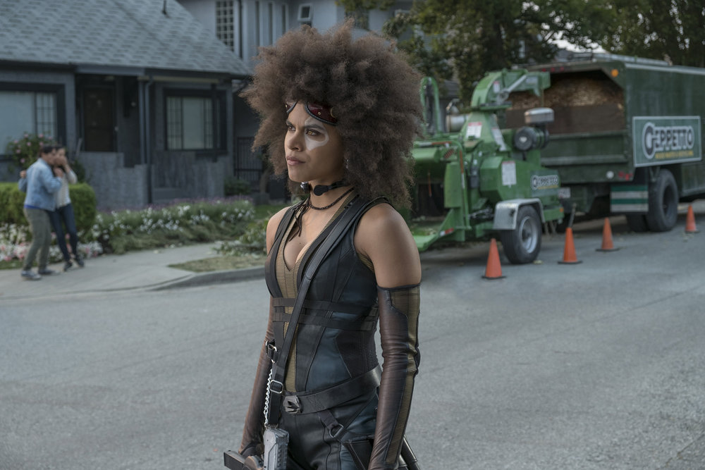 Domino (Zazie Beetz) joins Deadpool's newly minted team, the X-Force.