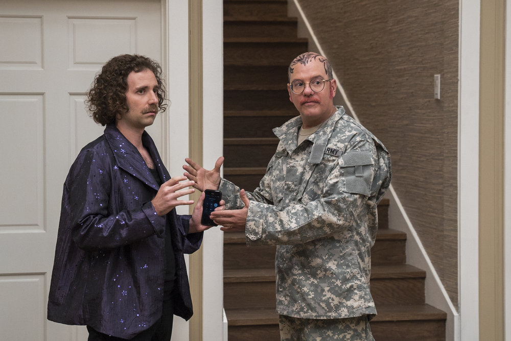 Murph (Kyle Mooney) and Tobias (David Cross) prepare for a performance.