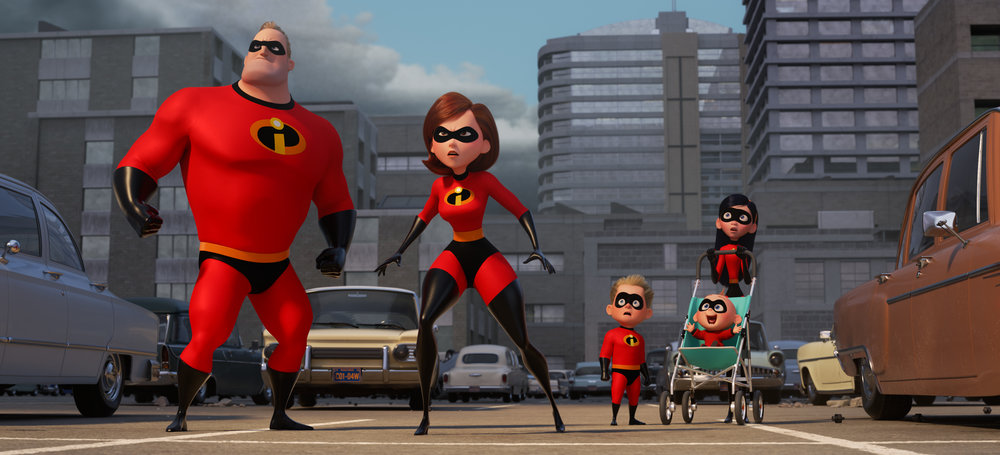 The super-family returns in  Incredibles 2 , directed by Brad Bird.