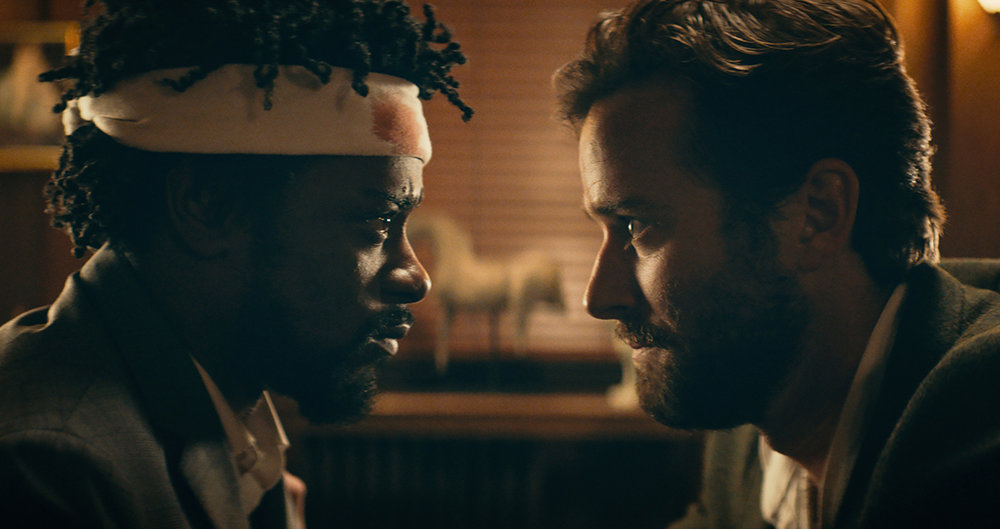 Lakeith Stanfield and Armie Hammer in  Sorry to Bother You , directed by Boots Riley.