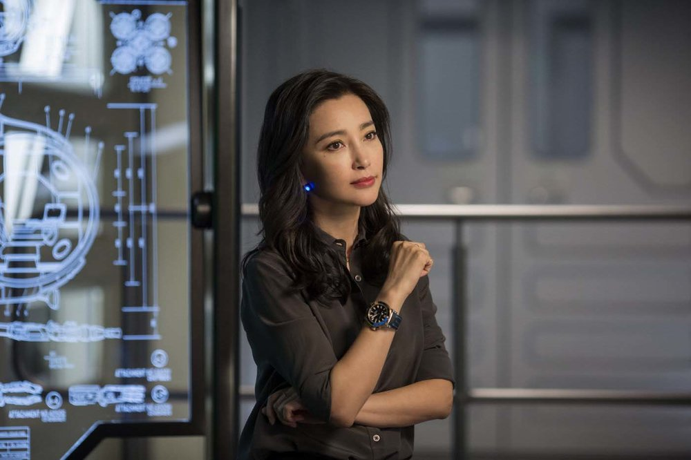 Li's role as a marine biologist is a clear play for the Chinese market.