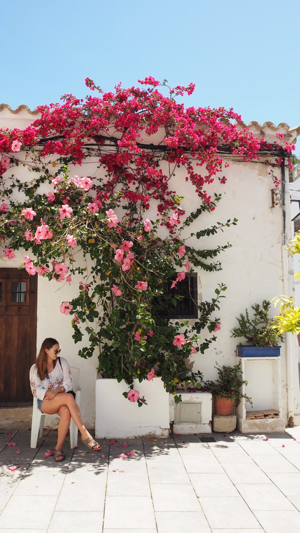 Local vibes in Ibiza Old Town