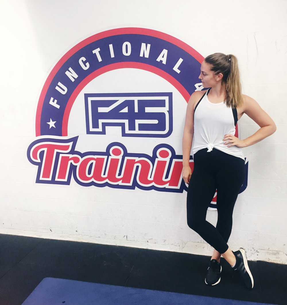 The most standard F45 logo photo on the internet.