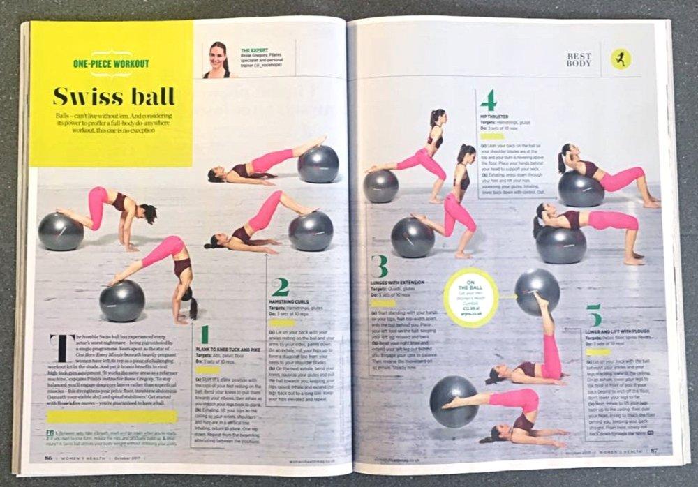 Women's Health UK Fit Ball Reformer Workout