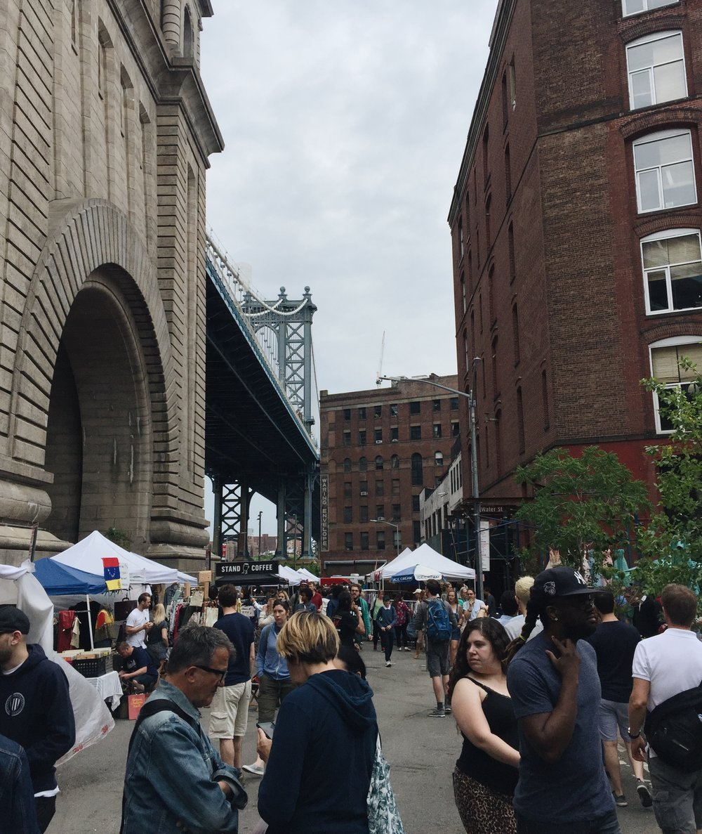On my way to see the skyline from DUMBO, I ran into the Brooklyn Flea Market!