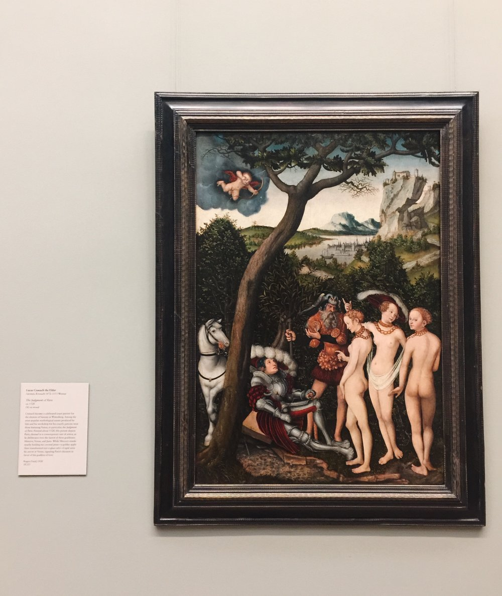 Lucas Cranach the Elder's  The Judgement of Paris