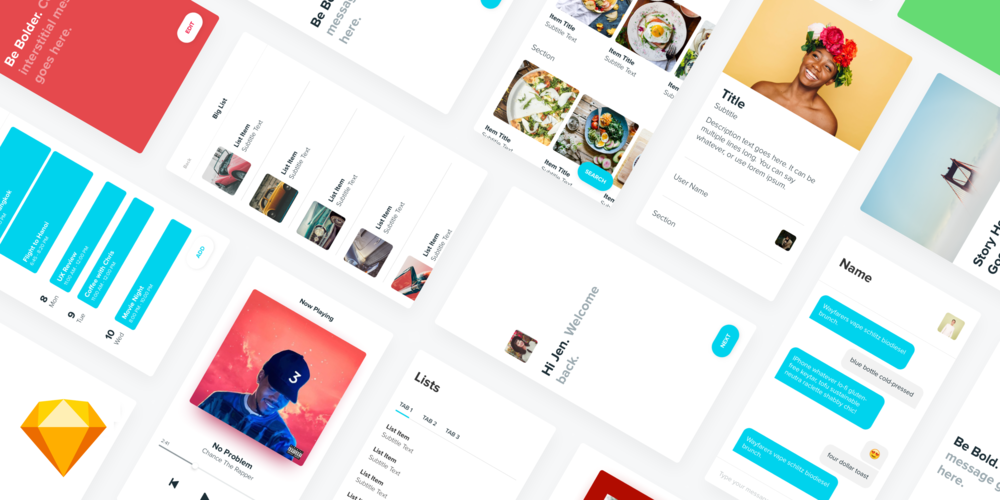 Design Gorgeous Apps in Half the Time with BLOX. - BLOX is a UI Kit Template for Sketch that puts your design workflow on steroids and makes you look damn good while doing it.