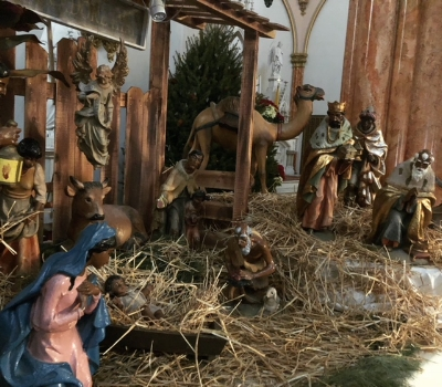 Our Lady of Victory CRECHE scene  Christmas 2017