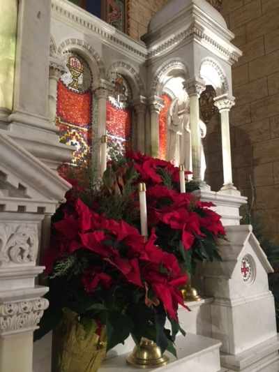 Holy Rosary Worship Site's High Altar  at Christmas 2017