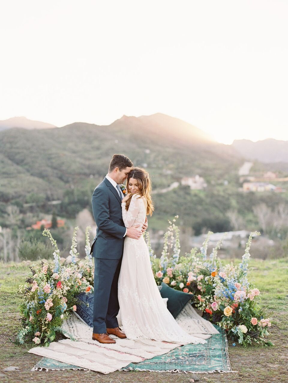 Forrest and J - A Boho Love Story - Triunfo Creek Vineyards Styled Shoot - Colorful Boho Wedding inspo