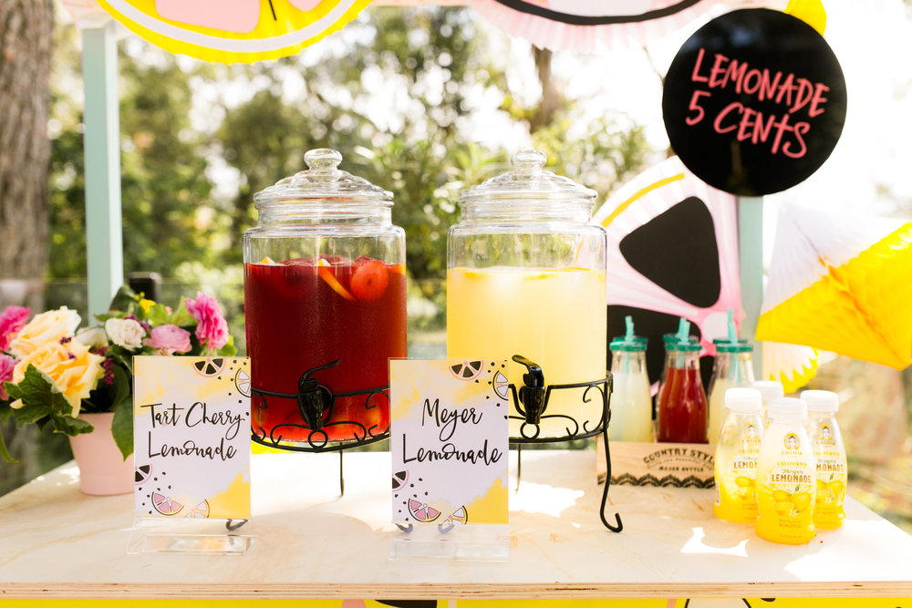 Lemonade Stand Kids Birthday Party - Califia Farms Lemonade