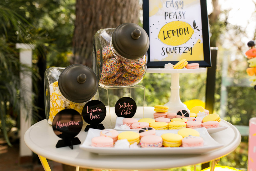 Lemonade Kids Birthday Party Desserts - The Cravory cookies