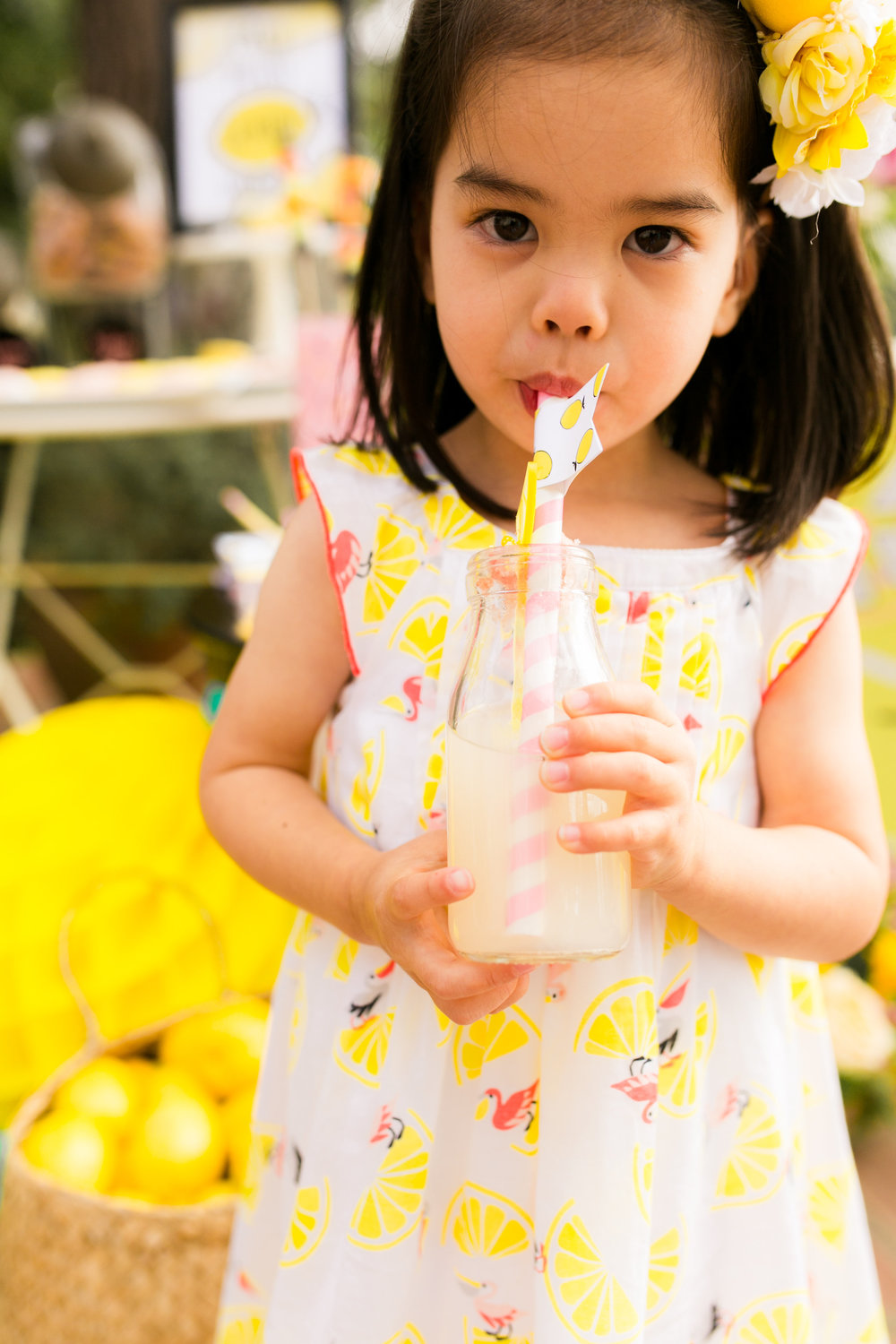 Lemonade Kids Birthday Party - Little girl Party Dress