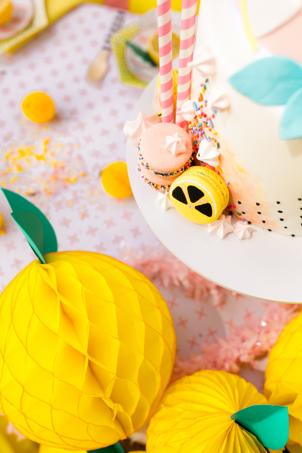 Lemonade Kids Birthday Party - Custom Cake by Jenny Wenny Cakes