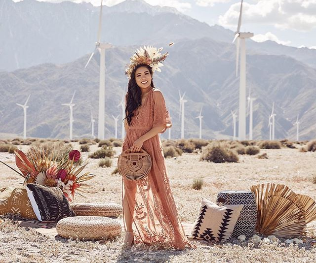 Desert Dolls! Loving @vicidolls and these gorgey images from @laurenalexandra_photography!! They seriously have the perfect #festivalfashion.  #vicivibes #coachellastyle . Styling/lounge   @forrestandj  Fashion   @vicidolls  Floral accessories   @foxtail_florals  Photography   @laurenalexandra_photography  Makeup/hair   @themakeupexpert @richellekolda  Models   @hkcung @jessthrowiton_ @teilabee @xposedbeauty @vanessa_oblinsky