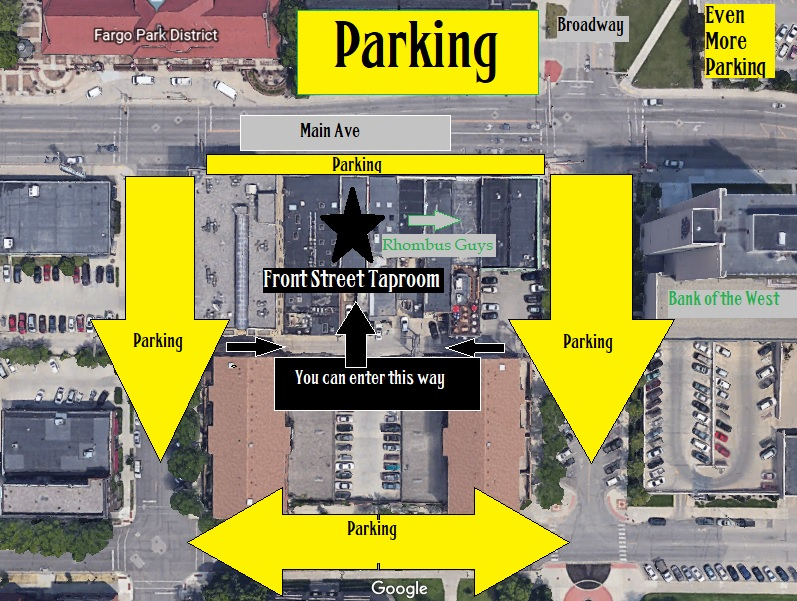Plentiful Street Parking Depot Across The Street (Enter from Broadway) Island Park Ramp (Enter from 1st Ave S) All Parking Free and Open During Business Hours + All Weekend