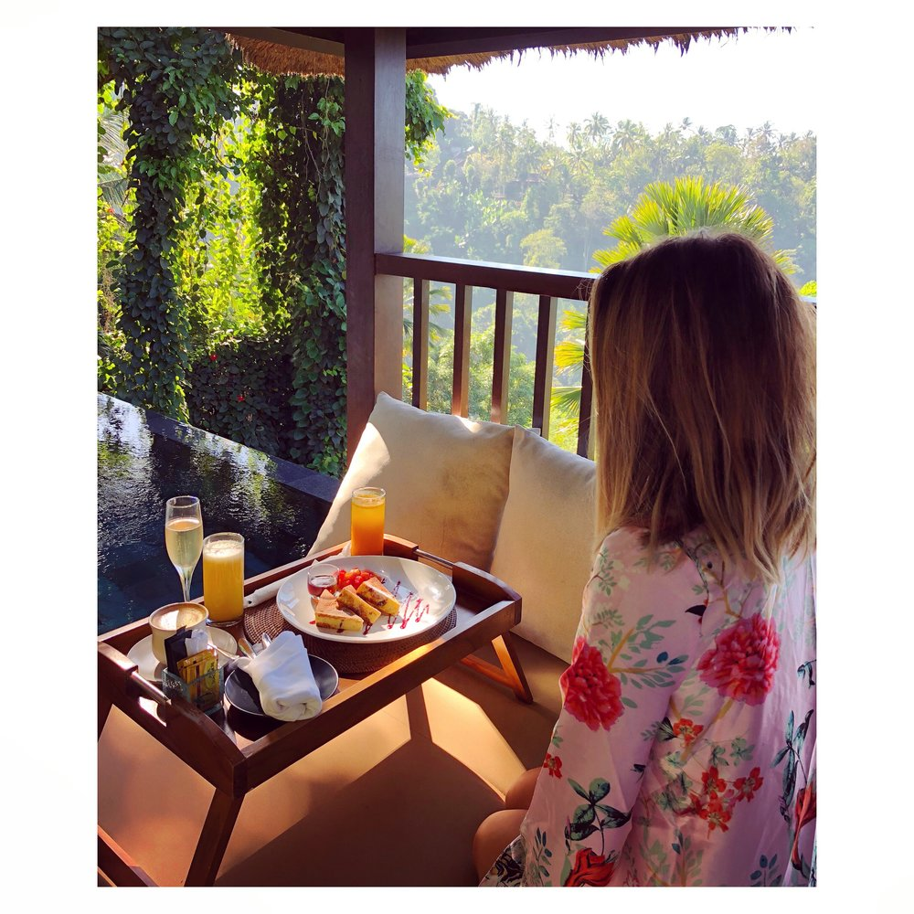 Breakfast to our room - Hanging Gardens