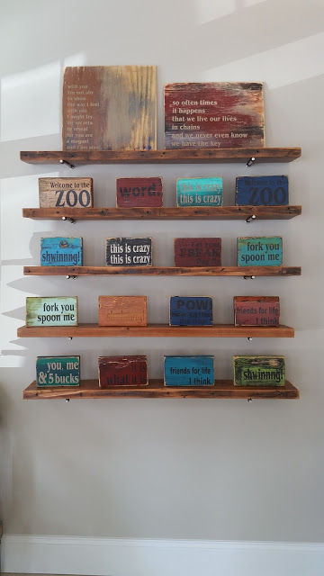 reclaimed wood shelves CT