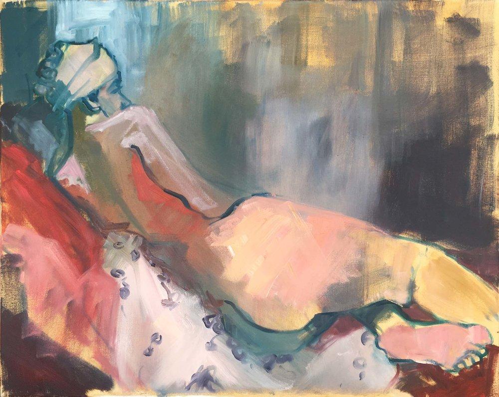 Oil on canvas, w76 x h61cm (w80 x h65cm framed).