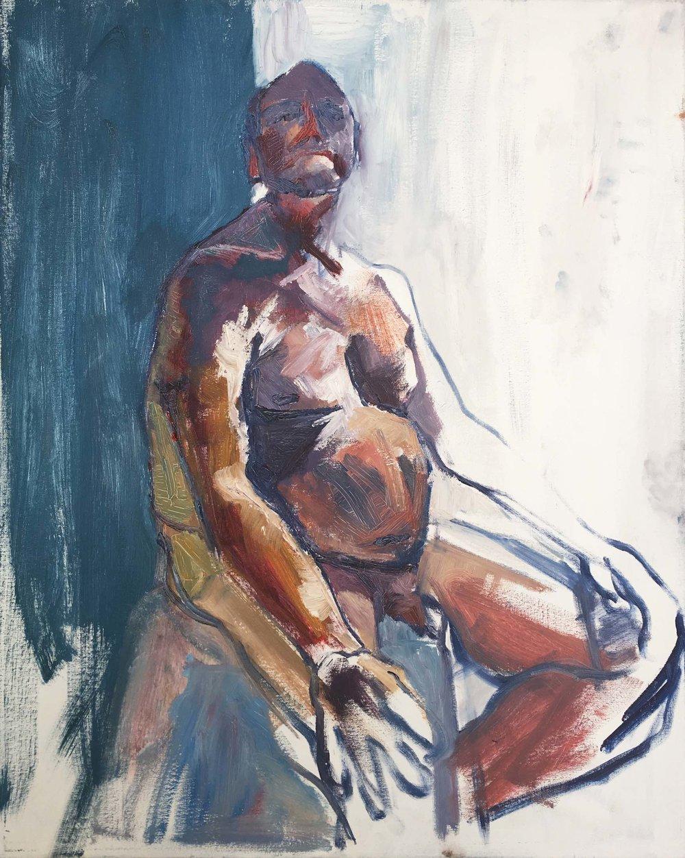 Barry, 2017. Oil on canvas, w61 x h76cm (w65 x h80cm framed).