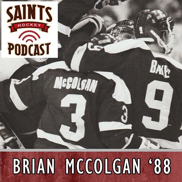 Another episode of the Saints hockey podcast with @mikemckenna56 is live! This weeks guest is a true @slumenshockey legend... Brian McColgan '88 #SLUHockey #SLUHockeyAlumni #saintshockeypodcast