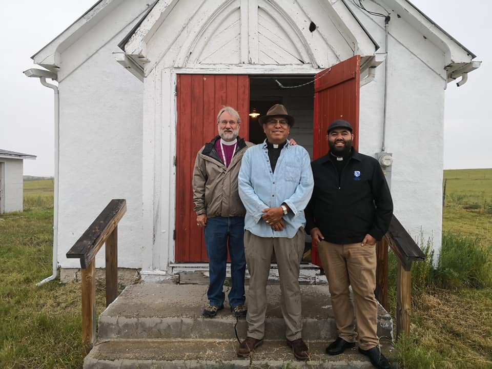 Bishop Tarrant, Rev Canon Two Bulls, and Rev Canon Huriwai in Sth Dakota