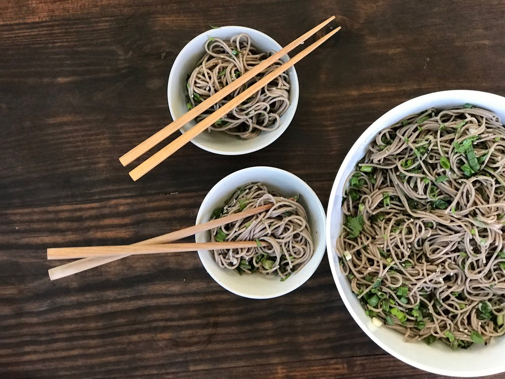 Cold Soba Plated