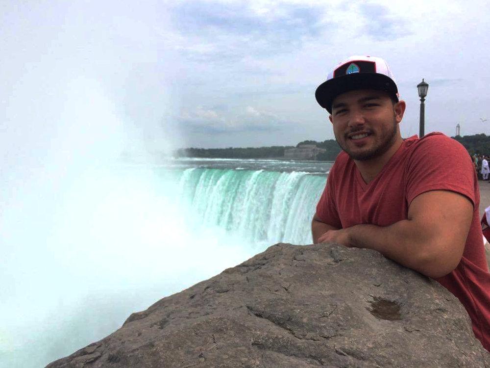 Richard Bragg at Niagara Falls