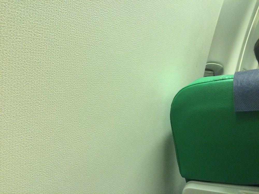 window spot in airplane
