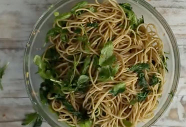 Whole-Wheat Noodles With Greens and Ginger Dressing