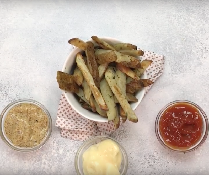 Baked Herby French Fries