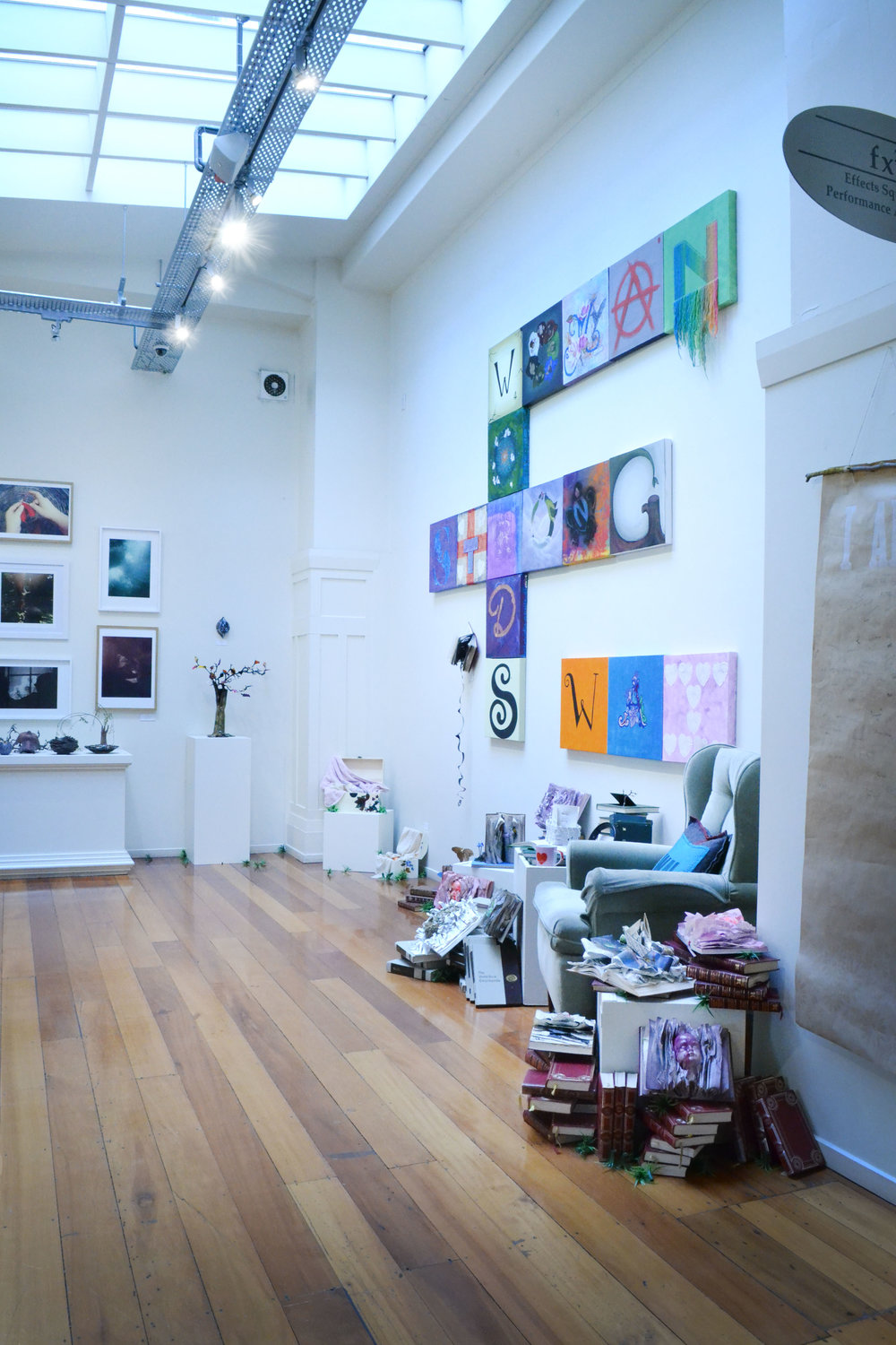 The ground floor exhibition space