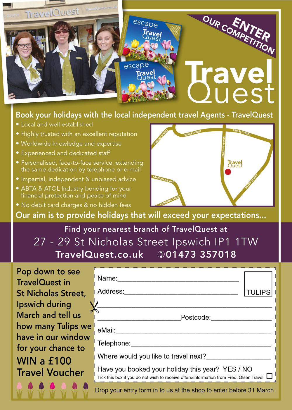 Win travel voucher