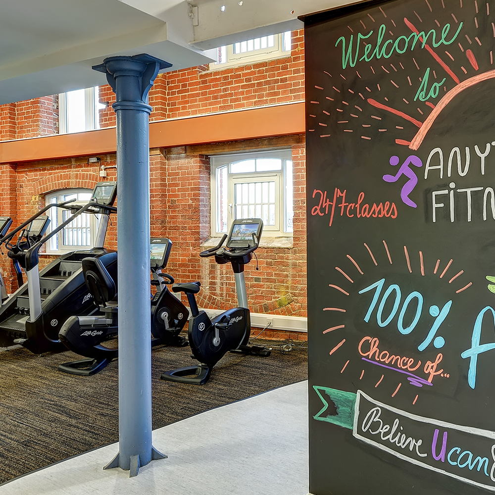 ipswich, waterfront, anytime fitness, gym, exercise bike, classes, treadmill