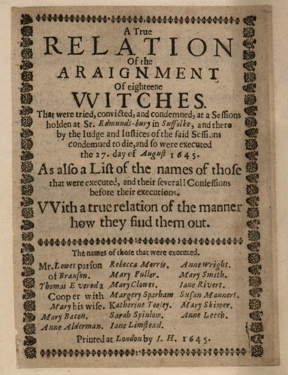 From HD1150/5 which contains a copy of the pamphlet regarding John Lowes' trial
