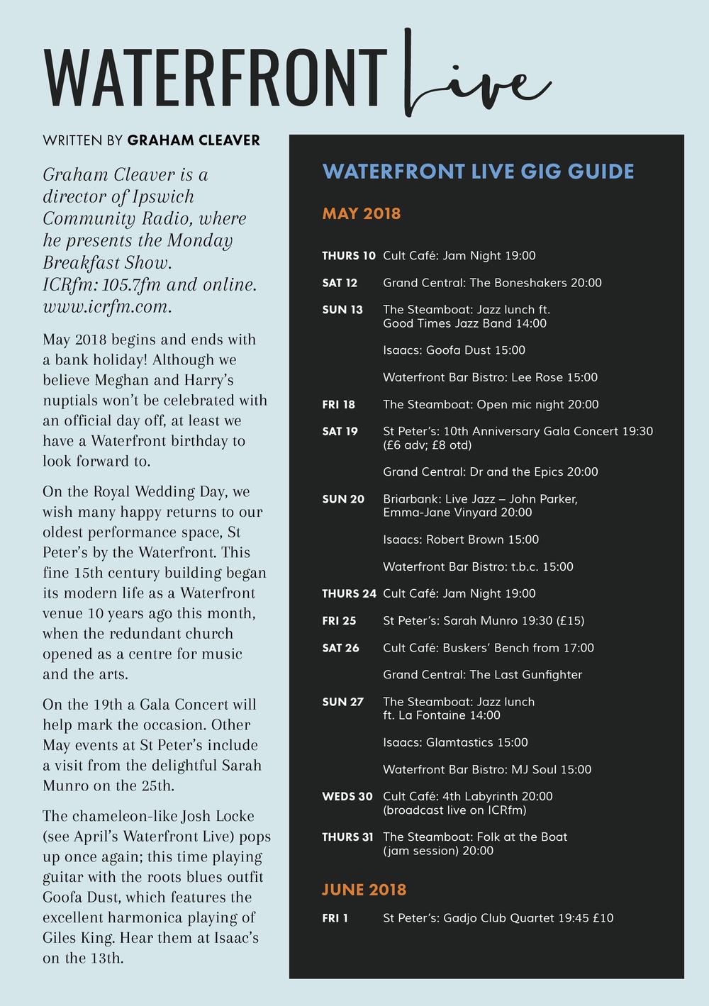 waterfront, ipswich, live music