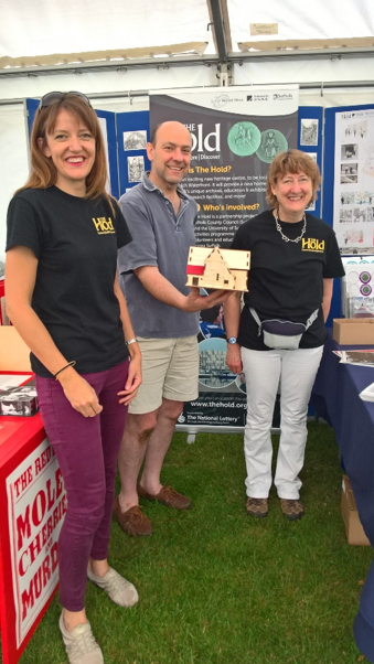 Suffolk Record Office staff at Ipswich Multicultural Festival L-R Amy Rushton, Dominic Wall and Kate Chantry