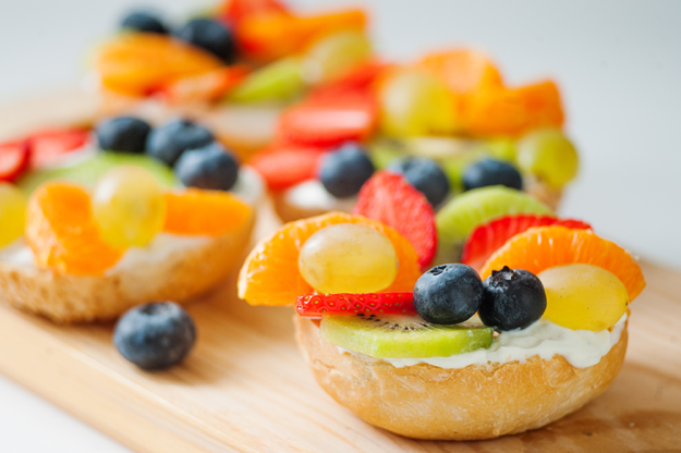 Fruit loaded   yoghurt bagel