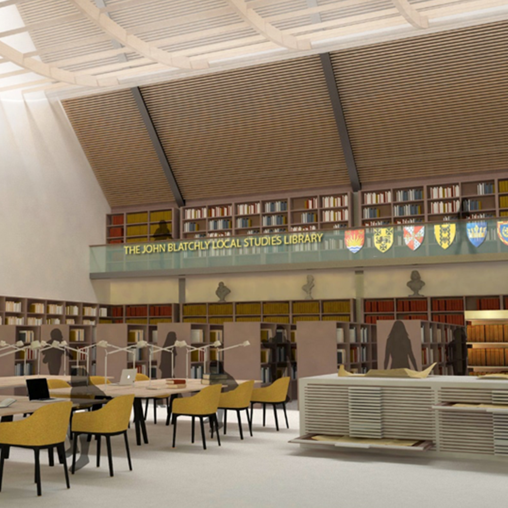 Artist's impression of the John Blatchly Local Studies Library