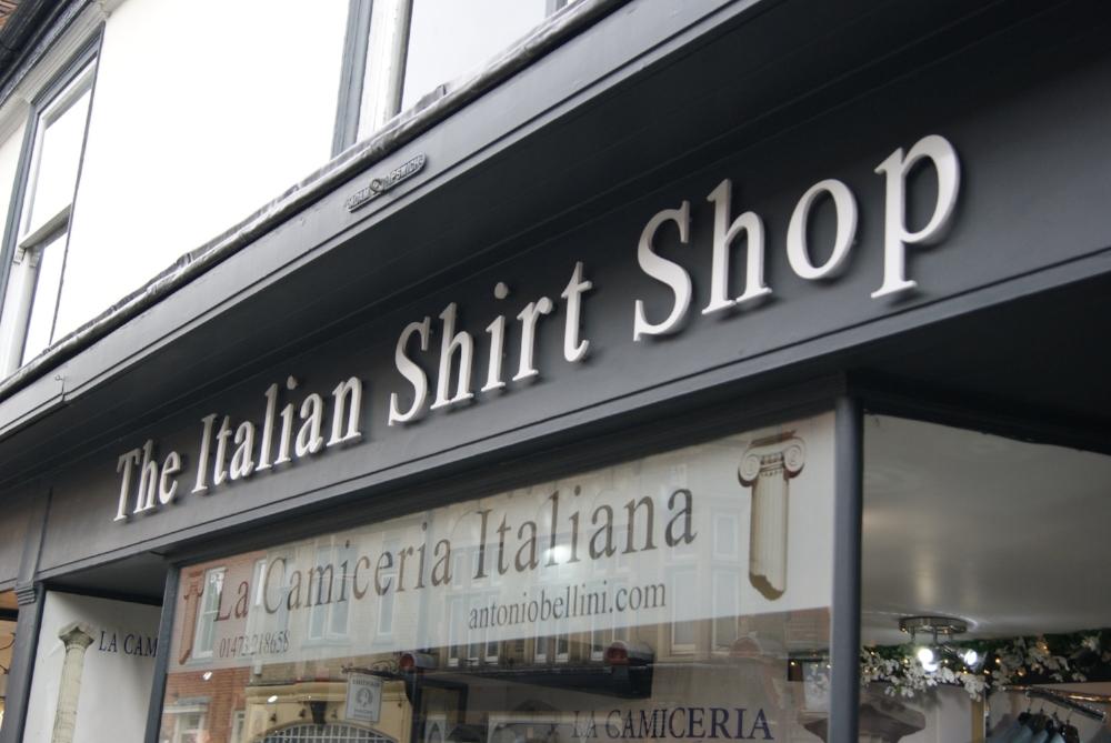 italian shirt shop, ipswich