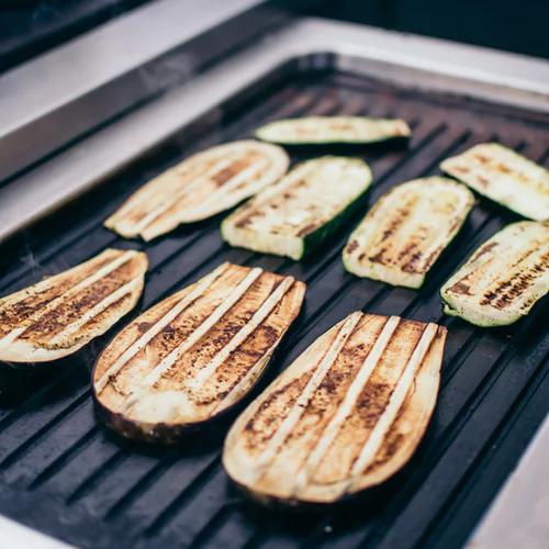 aubergine bacon