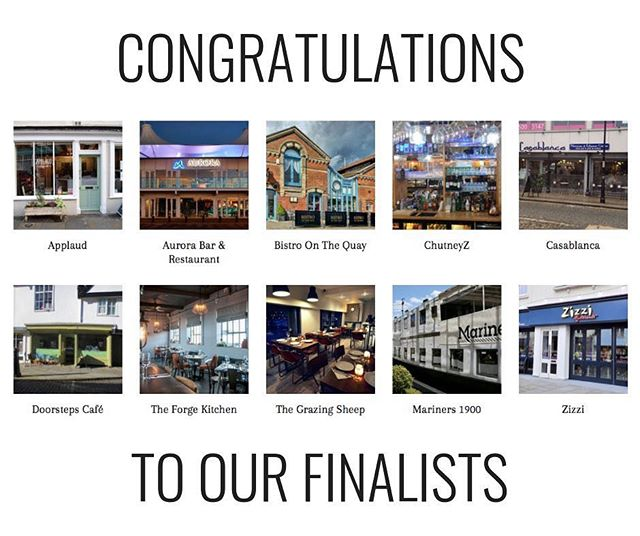 We've taken a little Insta-break over Christmas; but we're back with a bang!  Today we officially announce our #restaurantoftheyear2018 FINALISTS: @applaud_coffee @auroraipswich Bistro On The Quay @casablancaresturant  @chutneyzindiancafe @doorstepsipswich @theforgekitchen @thenewgrazingsheep @marinersipswich @wearezizzi  Our Awards Evening will be held on 23rd Jan, when we will be announcing the winners of each category -  BEST SMALL COVER INC. TAKEAWAY BEST CUSTOMER SERVICE BEST DESIGN & STYLING BEST WINE & DRINK BEST FOOD BEST OVERALL  Congratulations to our finalists and we look forward to seeing you on the night!